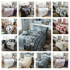 5pc Bed in a Bag Bedding Duvet Quilt Cover Set in 10 Designs, Double & King Size