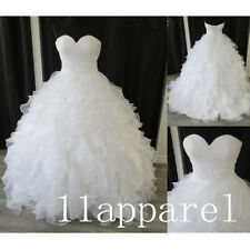 Stunning white/ivory Wedding dress Bridal Gown stock size 2 4 6 8 10 12 14 16++