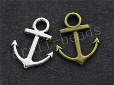 50/300pcs Tibetan Silver two-sided anchor Jewelry Charms Pendant Craft 19x15mm