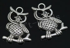 20/100pcs Tibetan Silver exquisite owl Alloy Jewelry Charms Pendant DIY 24x17mm