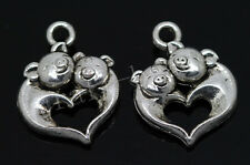 50/300pcs Tibetan Silver Two-sided Pig Jewelry Charms Pendant Craft DIY 18x14mm