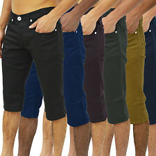 Mens Zico Jeans Shorts Designer Branded Skinny Twill Stretch Chinos Trousers