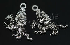 40/200pcs Tibetan Silver Wings Dragon Alloy Jewelry Charms Pendant DIY 21x19mm