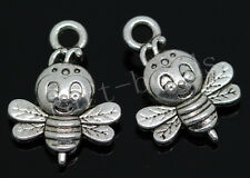 50/300pcs Tibetan Silver Little bee Jewelry Finding Charm Pendant Craft 16x12mm