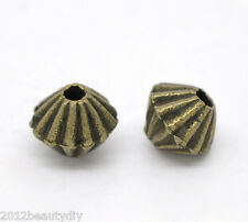 Wholesale Lots DIY Jewelry Bicone Spacer Beads Bronze Tone 5x4mm