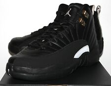 Air Jordan Retro 12 XII Master Black Gold Sneakers Boy's GS Size 5 5.5 6 6.5 7