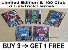 Match Attax EXTRA 15/16 Limited Edition / Hat-Trick Heroes / 100 Club 2015/2016