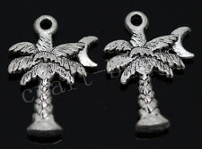 50/300pcs Tibetan Silver Exquisite Coconut Tree Jewelry Charms Pendant 21x14mm