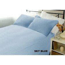 AU Size All Bedding Collection 1000TC Egyptian Cotton Sky Blue Strp Select Item