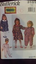 BUTTERICK SEWING PATTERN 3101 TODDLER/CHILDS DRESS & JUMPSUIT - FF/UC
