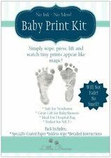 Baby Inkless Print Kit ~ Capture tiny hand and footprints in black, pink & blue