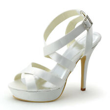 EP2124 Women Party Open Toe High Heel Platform Strap Buckle Sandal Wedding Shoes