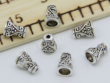 60/300pcs Tibetan Silver Flower Bead Caps Jewelry Charms Beads Cap 10x7mm