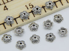 100/500pcs Tibetan Silver Flower Bead Caps Jewelry Charms Beads Cap DIY 8x3mm