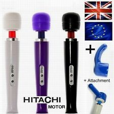Powerful Magic Wand Private Body Massager Hitachi Motor UK,EU Plug +2 Attachment