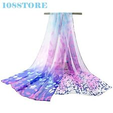SCARF SHAWL WOMEN SILK LONG FASHION SCARVES WOMENS WINTER THIN PRINT CAPE CASUAL