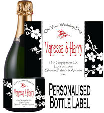 Personalised Wedding Day Bottle Label Gift Wine, Spirit or Champagne WDBL 11