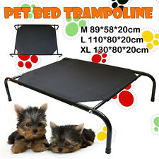3 Size Heavy Duty Frame Pet Dog Bed Trampoline Hammock Canvas Cat Puppy Cover OZ
