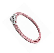 Genuine PANDORA Double Woven Pink Leather Bracelet 590705CMP **FREE DELIVERY**