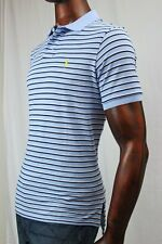 POLO Ralph Lauren Mesh Custom Fit Polo Multi-Blue And White Stripe ~NWT~