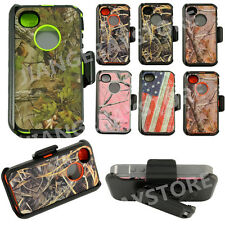 Generic for IPhone 4/4s camo case w/Screen [belt clip fits otterbox defender]