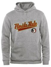 Florida State Seminoles NCAA Mens Classic Primary Logo Hoodie Gray Big Sizes