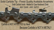 """*SOLID CARBIDE* Chainsaw 0.325"""" 0.063"""" ANY LENGTH - NO *Coated* Junk - SEE VIDEO"""