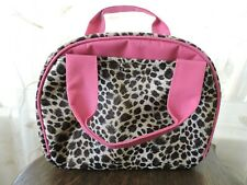 CHEETAH Leopard Insulated Lunch Tote Bag Thermal Soft Sack Travel Black Pink NEW