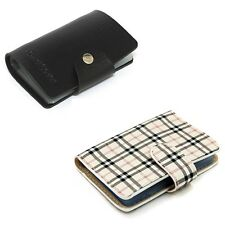 Business ID Name Credit Card Holder Purse Case Cover Leather Wallet Pouch Bag