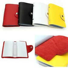 Cowhide Leather Business ID Name Credit Card Holder Purse Case Wallet Pouch Bag