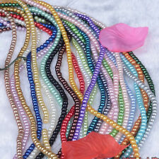 Wholesale Glass Pearl Round Spacer Loose Beads 4mm/6mm/8mm/10mm Quality pearl