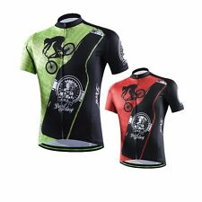 Bike Mens Cycling Bike Short Sleeve Jersey Top Clothing Bicycle Sportwear S-XXXL