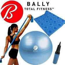 Bally Yoga Fitness Kit - 65cm Exercise Ball, Pump, Mat & Stretch Resistance Band