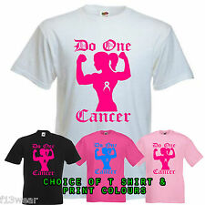 Do One Cancer Lady PERSONALISED Unisex Fit T Shirt strong running for life race