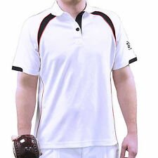 TAYLOR ACE XV1 GENTS BOWLS SHIRT - BLACK/RED TRIM - Var. sizes . NEW FOR 2016 .