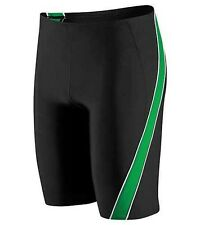 Speedo Boys/Mens Mercury SPL Jammer Swimsuit Waist BLK/GRN Sizes 20-28