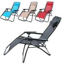 ANCHEER 4 COLORS ZERO GRAVITY LARGE CHAISE LOUNGE CHAIR RECLINER POOL DECK DKVP