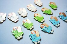15 wooden angels embellishments Christmas card making topper scrapbooking
