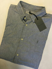 "ALL SAINTS GREY MARL ""WAYCROSS"" SHORT SLEEVE SHIRT TOP - XS S L - NEW TAGS"