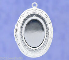 Wholesale New Plated Photo HOTSELL Oval Locket Frame Pendants 34x24mm