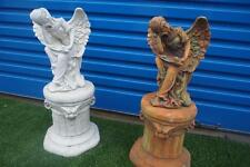 Beautiful Little Isabella Angel Statue & Pedestal with Wings Garden Ornament NEW