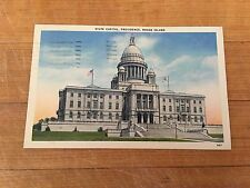Rhode Island RI Providence State Capitol Postcard Old Vintage Card - 1939