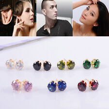 1 Pair Exquisite Women Lady Gold Plated Crystal Zircon Ear Stud Earrings Jewelry