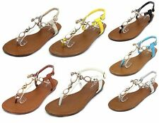 THW-26 New Blink Gladiator Buckles Low Heel Synthetic Sandals Party Women Shoes