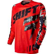 Shift 2015 Men's Adult Faction Jersey Camo Red (11454-003) Off Road/ATV/MX