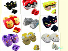 anime cartoon Plush Stuffed Slippers Plush Shoes Soft Warm Home Slipper