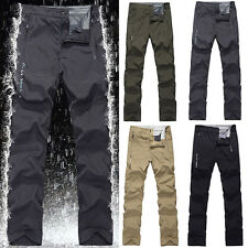 Mens Summer Outdoor Trekking Patchwork Pants Waterproof Hiking Climbing Trousers
