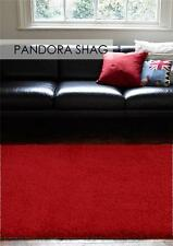 Pan Red FIVE SIZES New Modern Thick X Heavy Shaggy Floor Rug FREE DELIVER