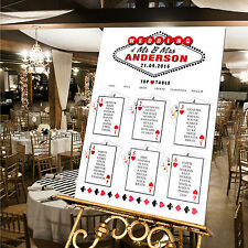 LUXURY Personalised Wedding Table Plan- LAS VEGAS THEME