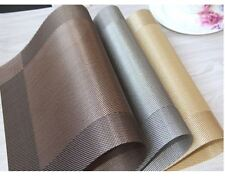 Set of Vinyl Dining Table Place Mats Placemats Pad Weave Woven Effect Modern